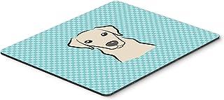 Caroline's Treasures Checkerboard Blue Yellow Labrador Mouse Pad/Hot Pad/Trivet (BB1160MP)