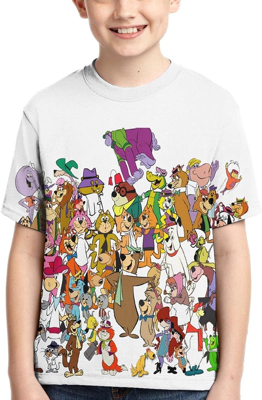 Yo-gi Bear T Shirt,3D Print Cute Polo Shirts Short Sleeve Tops,for Youth Tee Boys Girls
