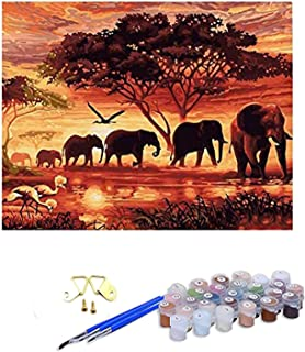 """Paint by Numbers Kits Canvas Oil Painting Kit for Kids & Adults, 16"""" W x 20"""" L DIY Paint Kit with Paintbrushes and Acrylic..."""