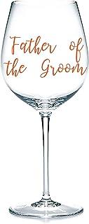 'Father of the Groom' Decalcomanie adesive in vinile, adesivi per bicchieri, tazze, cancelleria. Vino, birra. Regalo di ma...