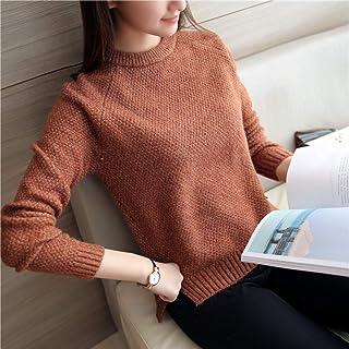 BINGSL JerséIs SuéTer,Suéteres y suéteres para Mujer Otoño Invierno Manga Larga Pull Solid Pullover Suéter de Punto Casual...