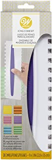 Wilton 417-1154 Icing Smoother Comb Set-3 Piece, White/Purple
