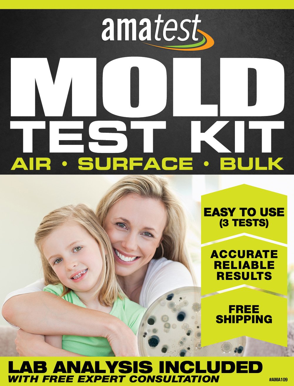 Amatest DIY Mold Max 61% OFF Test Kit 3 Includes methods Analysi Lab test Direct store