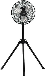 広電 扇風機 三脚型 ブラック 25cm アルミ羽根 ラウンドムーブ送風 持ち運び簡単 CAT251TMA