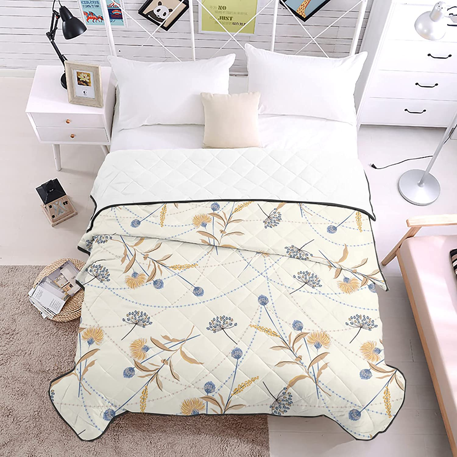 DecorLovee Inventory cleanup selling sale Bedding Duvets Fresh Country Great interest Plant Sea All Dandelion
