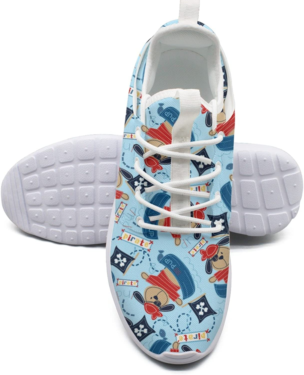 ERSER Pirate Pup Dog Flag in His Boat bluee Safety Running shoes Women