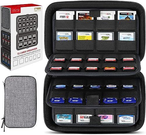 Etui pour 72 Jeux, Sisma Pochette de Rangement pour 40 Jeux Switch PS Vita ou Cartes SD et 32 Cartouches Nintendo 3DS...