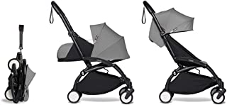 Babyzen YOYO2 Stroller & Newborn Set - Black Frame with Grey Fabrics