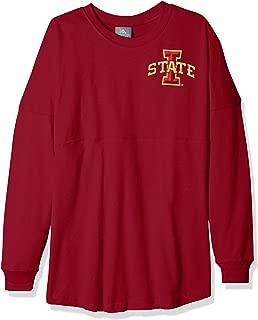 NCAA Iowa State Cyclones Womens NCAA Women's Long Sleeve Mascot Style Teeknights Apparel NCAA Women's Long Sleeve Mascot Style Tee, True Cardinal, X-Small