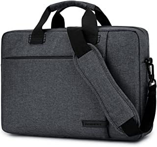 Laptop Bag 17.3 Inch,BRINCH Stylish Fabric Laptop Messenger Shoulder Bag Case Briefcase for 17-17.3 Inch Laptop/Notebook/MacBook/Ultrabook/Chromebook Computers (Dark Grey)
