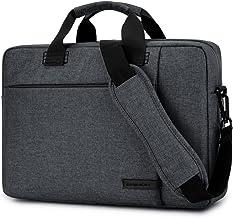 Laptop Bag 17.3 Inch,BRINCH Stylish Fabric Laptop Messenger Shoulder Bag Case Briefcase for 17-17.3 Inch Laptop/Notebook/MacBook/Ultrabook/Chromebook Computers (Dark Grey)