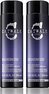 Tigi Catwalk Fashionista Violet Conditioner, 8.45 Fluid Ounce (Pack of 2)