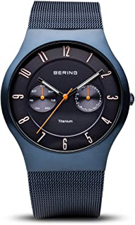BERING Time 11939-393 Mens Titanium Collection Watch with Mesh Band and Scratch Resistant Sapphire Crystal. Designed in Denmark.
