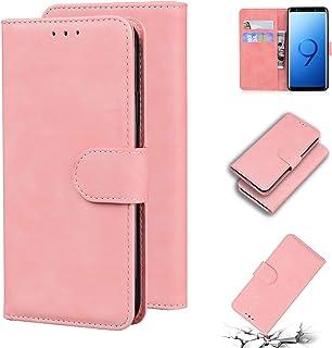 LODROC Lederen Portemonnee Case voor Galaxy S9, [Kickstand Feature] Luxe PU Lederen Portemonnee Case Flip Folio Cover met...