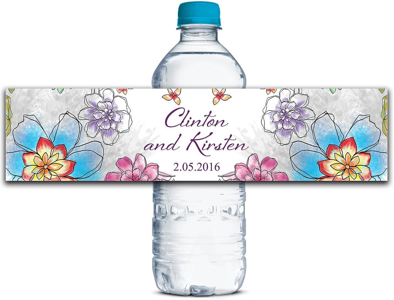 Kundenspezifische Wasserflasche Etiketten Selbstklebende wasserdichte kundenspezifische Hochzeits-Aufkleber 8 8 8  x 2  Zoll - 50 Etiketten B01A0W6F1A  | Qualitativ Hochwertiges Produkt  b55499