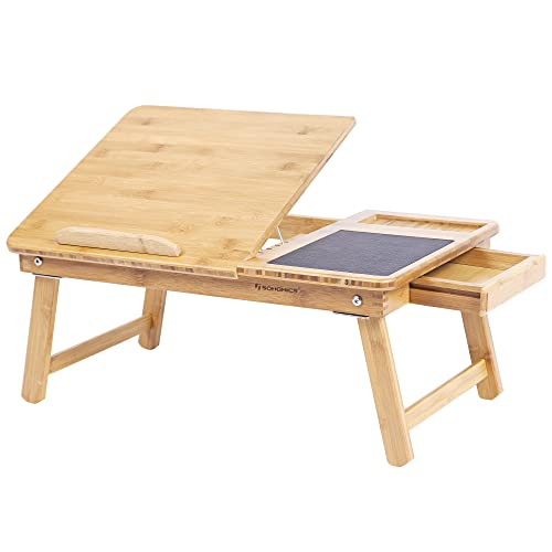 SONGMICS Table de lit Pliable en Bambou LLD008