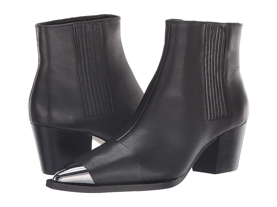 Halston Heritage Blythe Bootie (Black Leather) Women