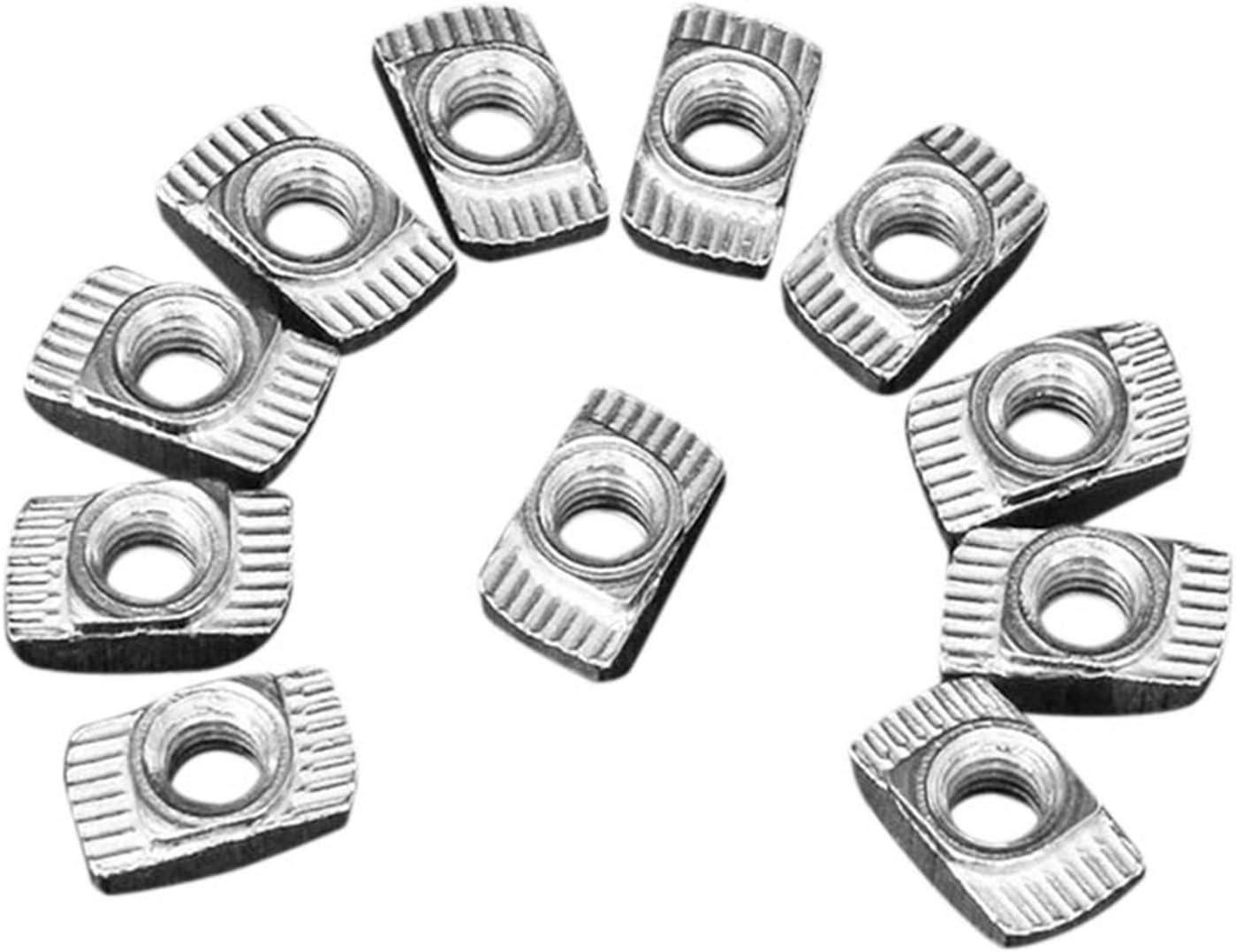 DUO cheap ER 100pcs Regular store M5 Hammer Nut Steel Carbon Connector Aluminum T Fa