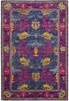 """Solo Rugs Hand Knotted Area Rug, M1661-69, Wool, Purple, 6' 1"""" x 8' 10"""""""