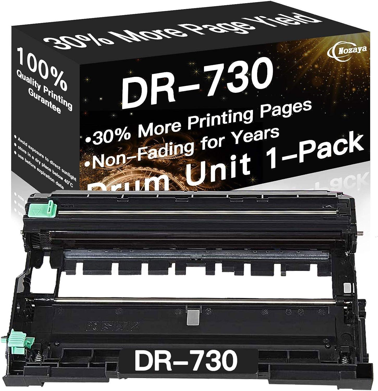 Nozaya Compatible DR730 DR-730 Drum Unit Used for Brother HL-L2350DW HL-L2395DW HL-L2390DW HL-L2370DWXL MFC-L2710DW MFC-L2750DW MFC-L2750DWXL DCP-L2550DW Printer (Black)