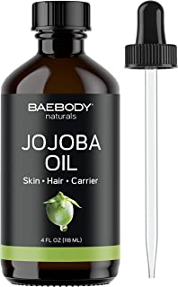 Baebody Natural Jojoba Oil for Hair, Skin, Nails & Body, 4 Ounces
