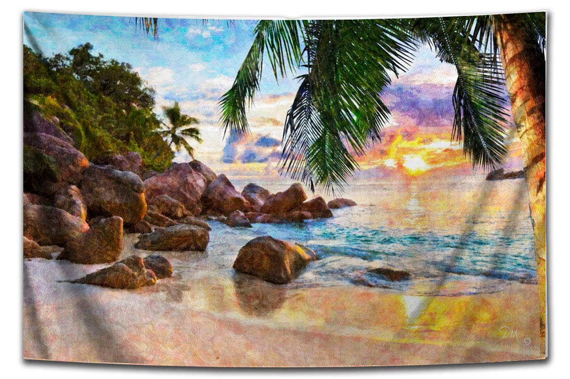 Sunset Beach Landscape Tapestry Our shop most Indefinitely popular Wall by Artist Hanging Dan Morri