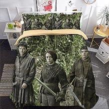 3D Parure de lit Set de Housse de Couette en 3D Imprimé Housse Couette et Taie-Game of Thrones276-Très Grand (220x240cm) E...