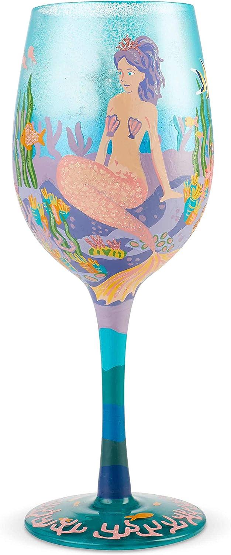 Enesco Designs by Lolita Max 53% Mesa Mall OFF Miss Mermaid Wine oz 15 Artisan Glass