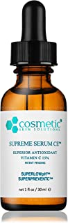 #1 BEST Supreme Serum CE – Superior Antioxidant Vitamin C, Patent Pending SUPERPREVENTC & SUPERLOWpH technology 1 oz