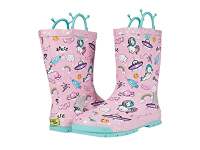 Western Chief Kids Space Party Rain Boots (Toddler/Little Kid/Big Kid) (Pink) Girls Shoes