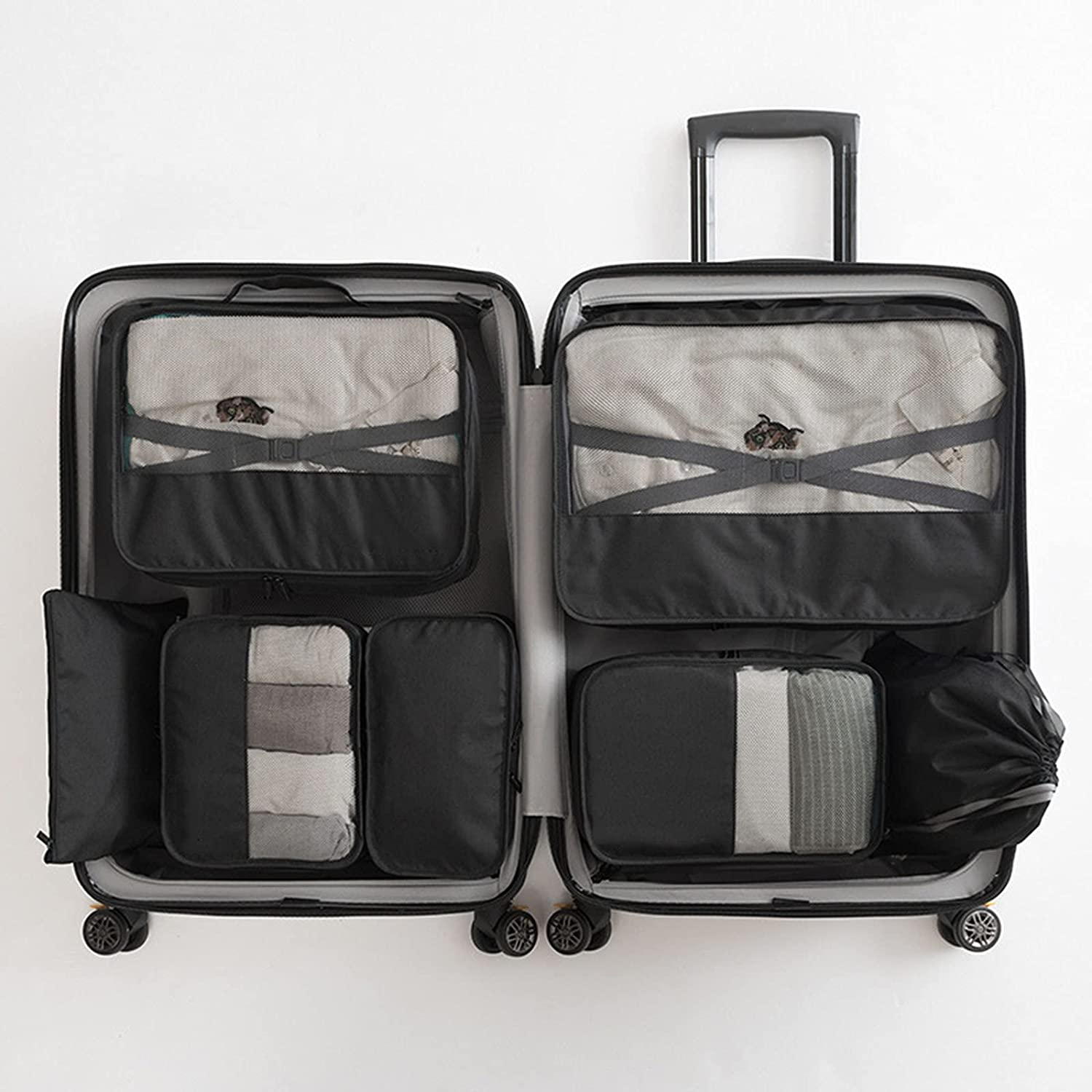 Packing Cubes 7 Pcs Suitcases Storage for Bags Max 59% OFF Max 68% OFF