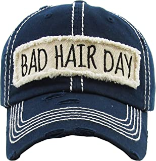 MIRMARU Women's Baseball Cap Distressed Vintage Unconstructed Washed Cotton Embroidered Adjustable Hat