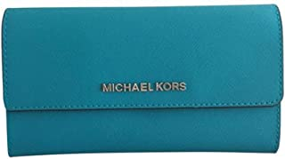 MICHAEL Michael Kors Jet Set Travel Trifold Tile Blue Wallet