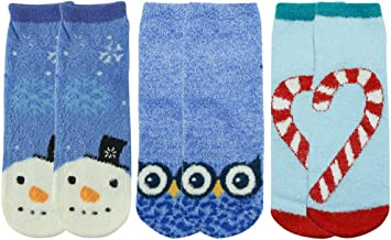 Novelty Crew Socks for Women,Vive Bears Fluffy Cute Design Anti-slip Socks Nice Gifts