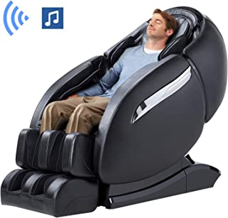 Ootori Massage Chair Recliner, Zero Gravity Massage Chair, Full Body Massage Chair with SL Double Track, 3D Robot Hands, Yoga Stretching, Bluetooth Speaker& Air Massage (Black)