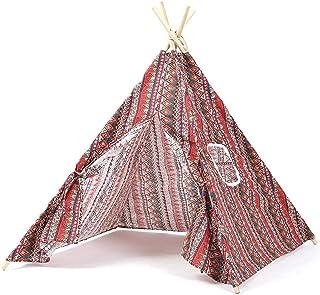 Dpliu Tält, tält för camping vattentät inomhus vikbar tipee barn rolig bärbar övningstränare tält födelsedag leksaker