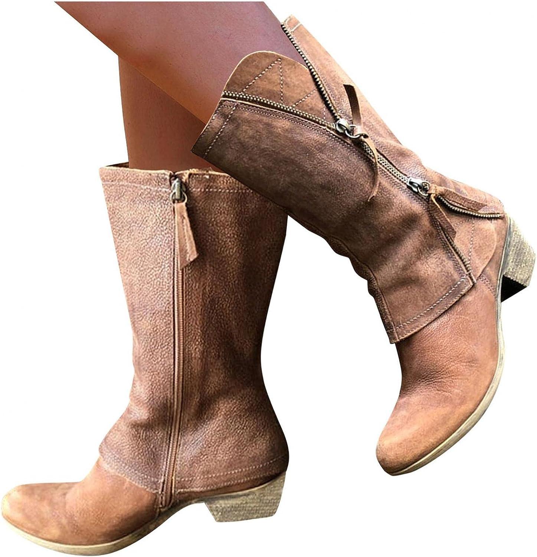 Masbird Boots for Max 70% OFF Women famous Women's Dressy Low Po Heel Western