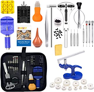 Onmust Watch Repair Kit, Watch Battery Tool Kit Watches Link Remover Kit Set with Carrying Case