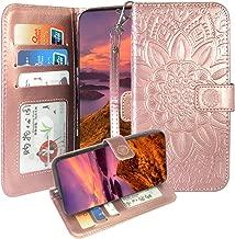 Harryshell ZTE Tempo X/Go Case,Avid 4 / AVID 557 / Blade Vantage Case, Kickstand Wrist Strap PU Leather Flip Wallet Case Protective Cover Card Slot for ZFive G LTE/C Z558VL/Z839 /N9137 (Rose Gold)