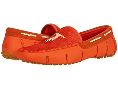 SWIMS Lux Tassel Loafer Driver (Orange) Men