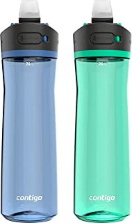 Contigo 2144982 Water Bottle, 24oz, Blue Corn & Coriander