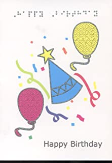 Braille and Tactile Greeting Card: Birthday Hat