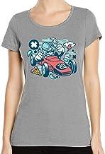 Iprints Cartoon Style Skull Formula Racing Pizza A...