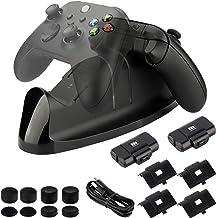 Kit de carregador para Xbox Series X/S, controle Xbox One, estação de carregamento duplo com indicador LED, baterias recar...