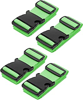 Luggage Straps - Travel Accessories TSA Approved Luggage Straps Suitcase Belts In 3 Colors Sold In 1/2/4 set By SWISSELITE … (4PCS, GREEN)