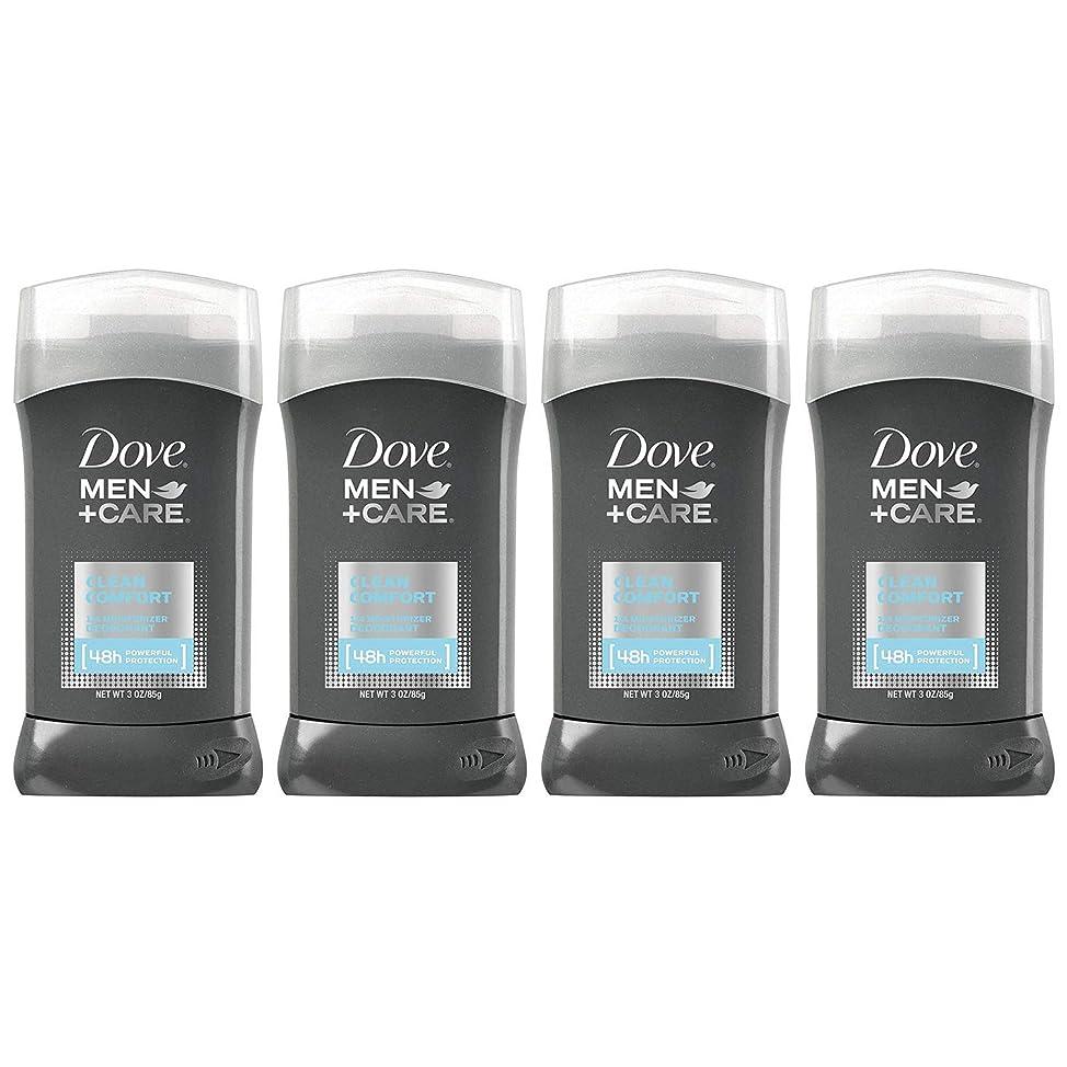 Dove Men+Care Deodorant Stick, Clean Comfort, 3 oz (Pack of 4)