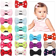 20Pcs Tiny Baby Hair Clips for Fine Hair Boutique Grosgrain Ribbon Hair Bows Clips..
