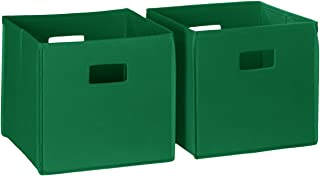 RiverRidge 02-012 2-Piece Folding Storage Bin, Green