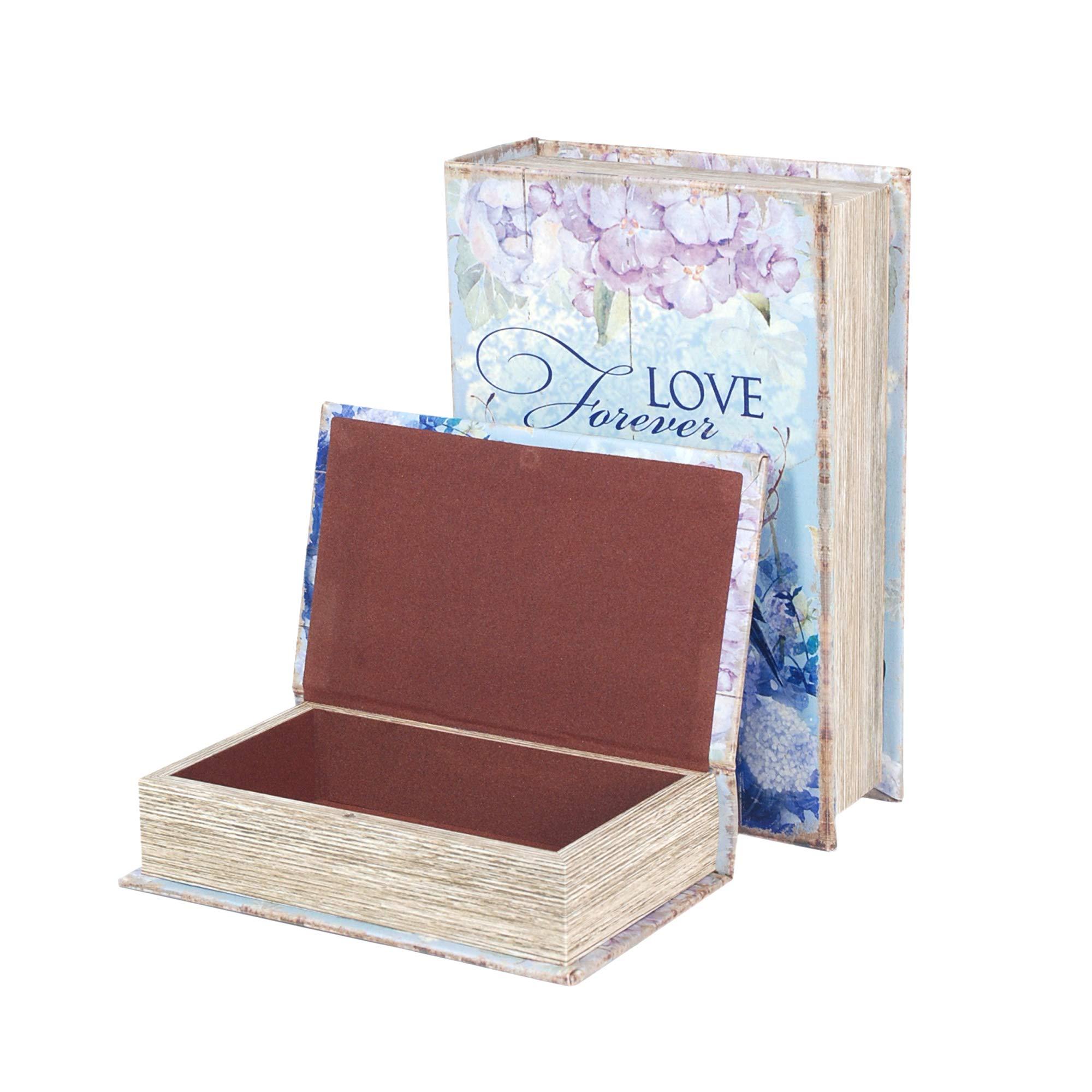 Vidal Regalos Caja Forma Libro Set 2 Unidades Pajaro 27 cm: Amazon.es: Hogar