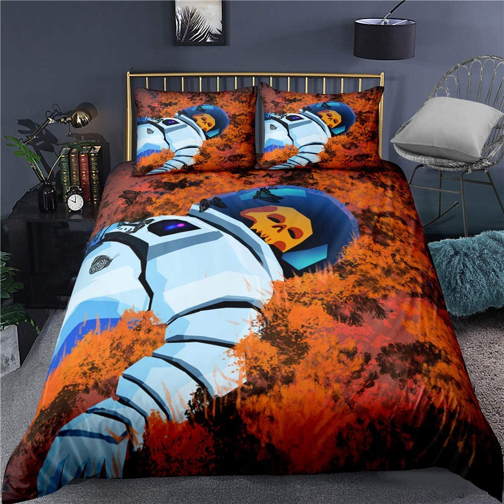 Engerla 3D 大放出セール Print Skull Astronaut Piece Set 3 Duvet Bedding 永遠の定番モデル